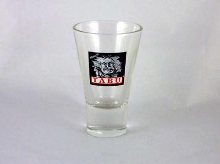 Absinth Tabu Gläser mit Gesicht (1 Stck.)
