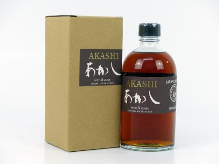 Akashi Single Malt 5 YO Japanese Single Malt 50% 0,5L
