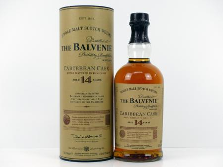 The Balvenie 14 Years Carribean Cask 43% 0,7L