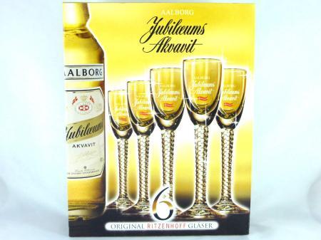 Jubiläums Akvavit Glas (6 Stck.)