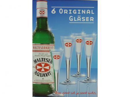 Malteserkreuz Glas (6 Stck.)