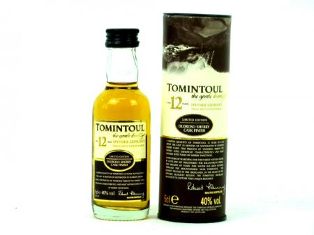 Tomintoul 12 YO Mini Single Malt Whisky 40% 0,05L