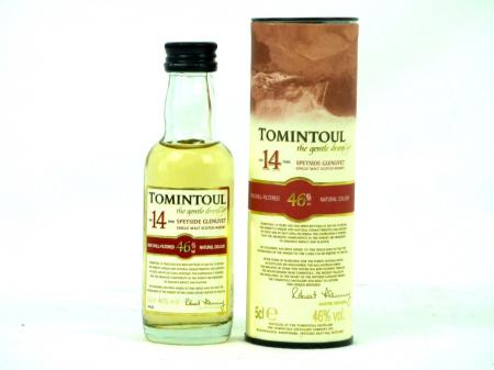 Tomintoul 14 YO Mini Single Malt Whisky 46% 0,05L