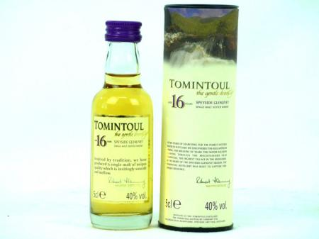 Tomintoul 16 YO Mini Single Malt Whisky 40% 0,05L