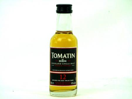 Tomatin 12 Years  mini Scotch Single Malt Whisky 40% 0,05L