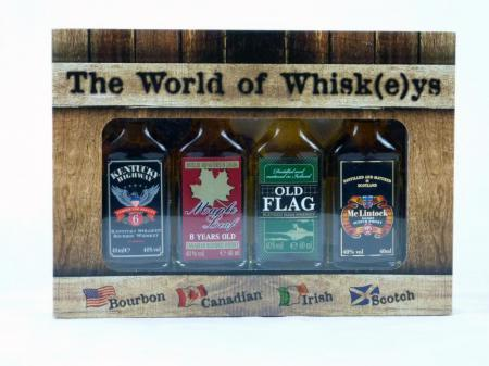 The World of Whisk(e)ys 4x 0,04L Whisky Box