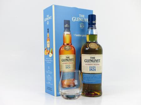 The Glenlivet Founder´s Reserve Highland Malt Geschenkset 40% 0,7L