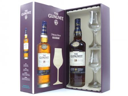 The Glenlivet 18 Years Single Malt Scotch Whisky Geschenkpackung