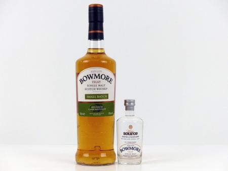 Bowmore Small Batch Geschenkpackung mit Original Islay Wasser 40% 0,7L