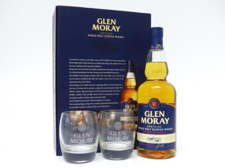 Glen Moray Classic Geschenkpackung mit 2 Gläser 40% 0,7L