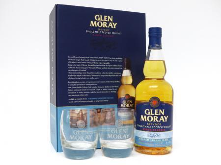 Glen Moray Peated Geschenkpackung mit 2 Gläser 40% 0,7L