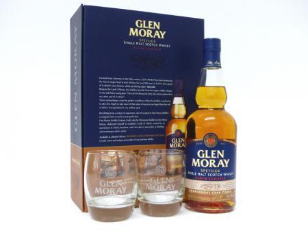 Glen Moray Chardonnay Geschenkpackung mit 2 Gläser 40% 0,7L