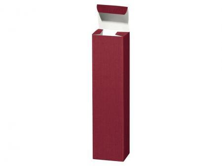 1er Geschenkkarton Welle Bordeaux 90x90x365mm