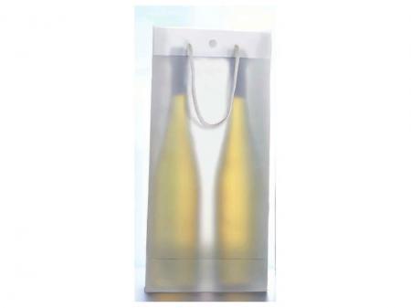 2er Tüte transparent 'Neutral' mit Druckknopf